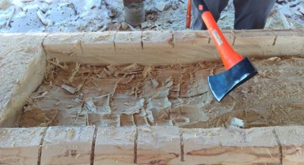 Secwepemc canoe-carving axe