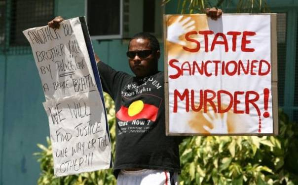Australia palm island protest