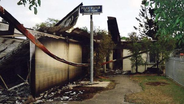 Australia palm island riot cop station