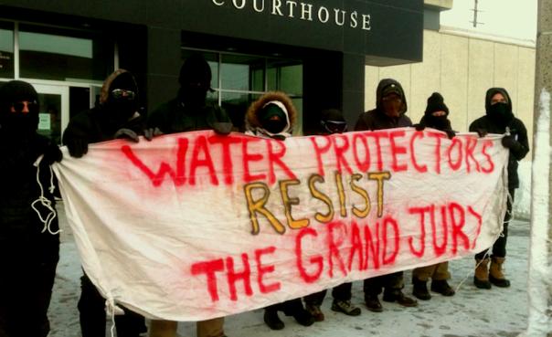DAPL grand jury banner