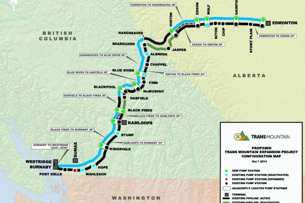 Kinder Morgan transmountain BC map
