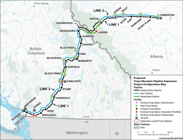 kinder morgan transmountain map