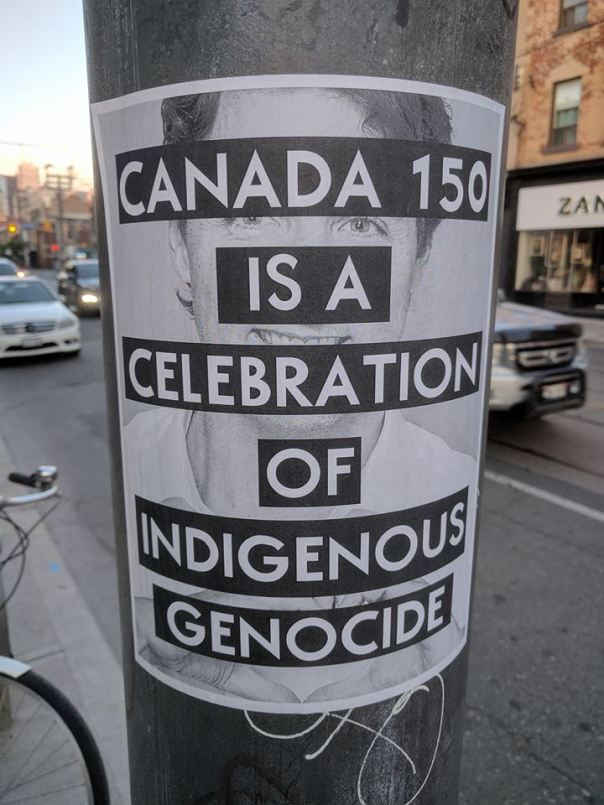 Canada 150 genocide poster