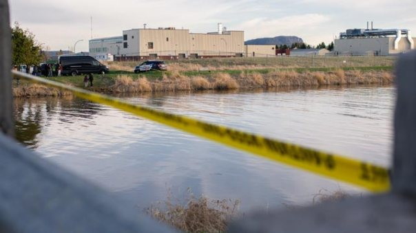 Thunder-Bay crime scene river