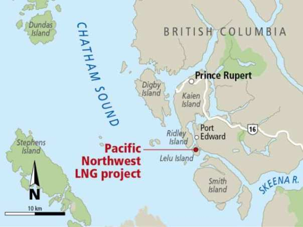 Lelu Island pacific-northwest-lng map