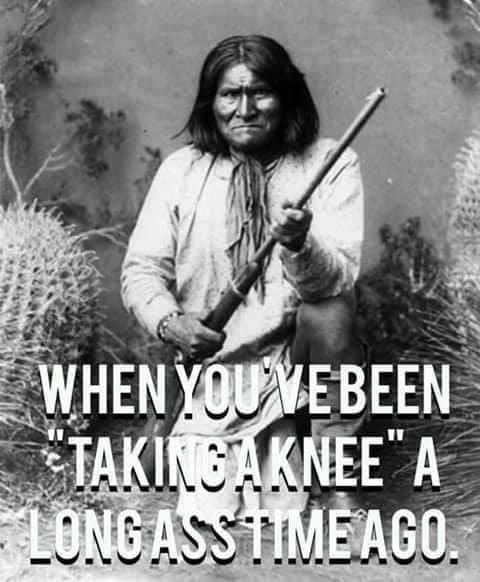 Geronimo take a knee