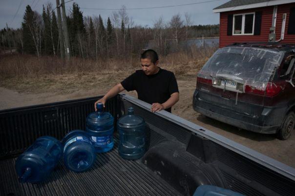 grassy-narrows-bottles-truck