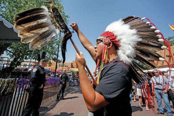 Santa Fe Entrada protest 2