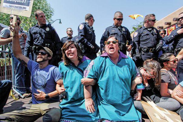 Santa Fe Entrada protest 6
