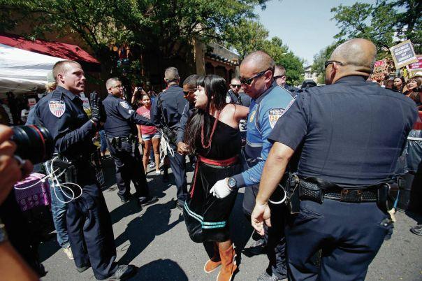 Santa Fe Entrada protest 7