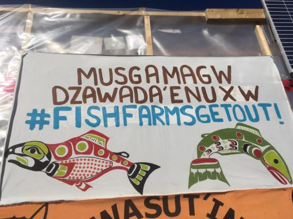 fish farm get out banner