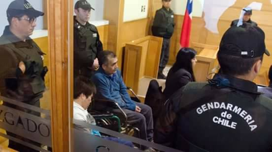Mapuche hungerstrikers court