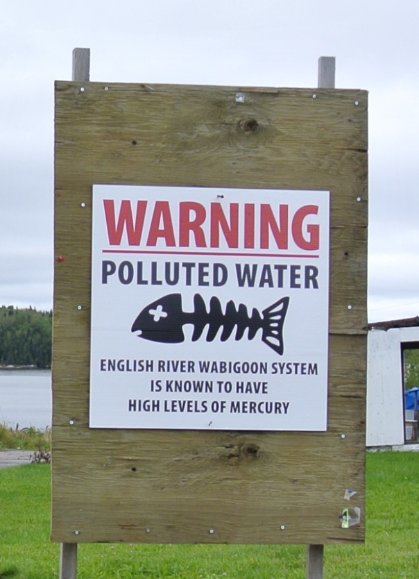 grassy-narrows warning sign