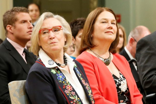 Canada's Minister of Crown-Indigenous Relations and Northern Affairs Bennett and Minister of Indigenous Services Philpott take part in a cabinet shuffle at Rideau Hall in Ottawa