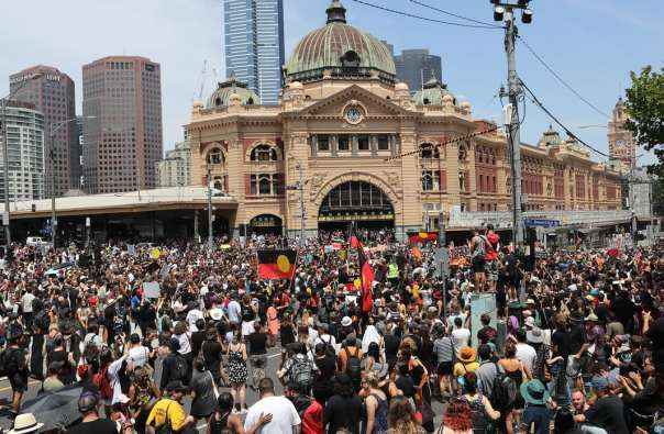 Australia invasion day rally 2018