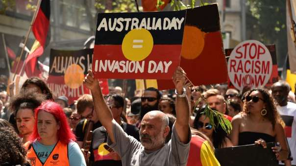 Australia invasion day sign 2018