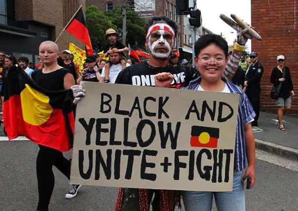 Australia invasion day unite