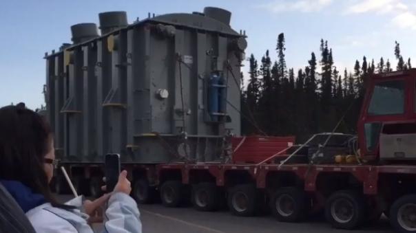 Muskrat Falls transformer truck