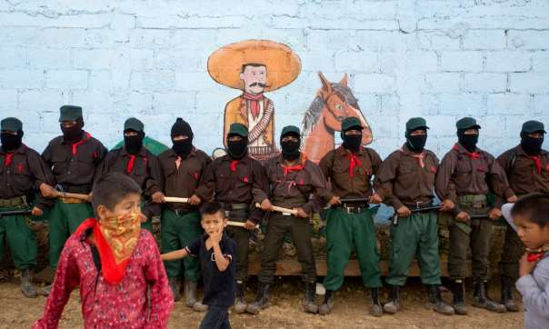 Zapatista lined up