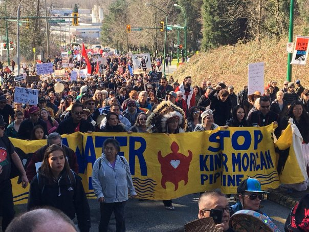 Kinder Morgan rally march 10