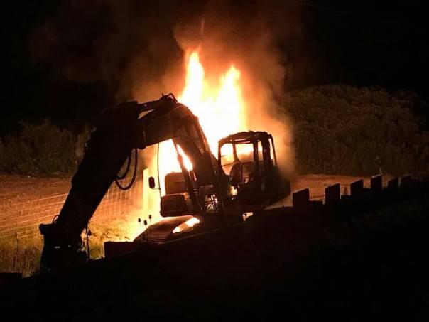 Six Nations 2020 excavator fire 1